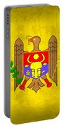 Moldova Flag Vintage Distressed Finish Portable Battery Charger