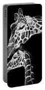 Mom And Baby Giraffe  Portable Battery Charger by Adam Romanowicz