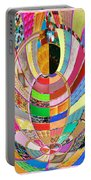 Mom Hugs Baby Crystal Stone Collage Layered In Small And Medium Sizes Variety Of Shades And Tones Fr Portable Battery Charger