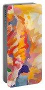 Mona Lisa's Rainbow Portable Battery Charger by Kimberly Santini