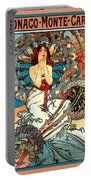 Monaco Monte Carlo Portable Battery Charger by Alphonse Maria Mucha