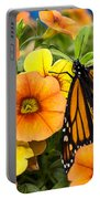 Monarch Among The Flowers Portable Battery Charger