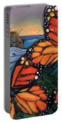 Monarch Butterflies At Natural Bridges Portable Battery Charger by Jen Norton