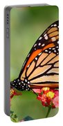 Monarch Butterfly On Lantana Flowers Portable Battery Charger