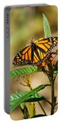 Monarch Butterfly On Plant With Eggs Portable Battery Charger