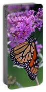 Monarch On Butterfly Bush Portable Battery Charger