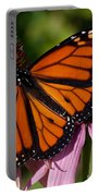 Monarch On Purple Coneflower Portable Battery Charger