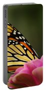 Monarch On Zinnia Portable Battery Charger