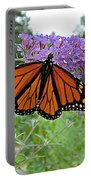 Monarch Under Flowers Portable Battery Charger
