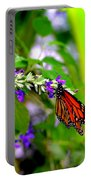 Monarch With Sweet Nectar Portable Battery Charger