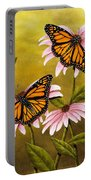 Monarchs And Coneflower Portable Battery Charger