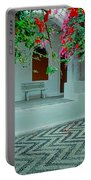 Monastery Symi Greece Portable Battery Charger
