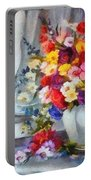 Monet Floral Edged Portable Battery Charger