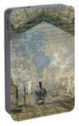 Monet Gare St Lazare 1877 Portable Battery Charger