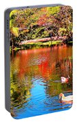 Monet's Garden In Hawaii 2 Portable Battery Charger