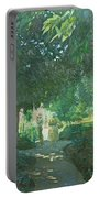 Monets Garden Oil On Board Portable Battery Charger