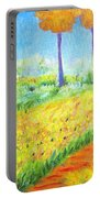 Monet's Garden Path Portable Battery Charger