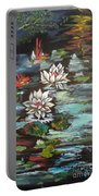 Monet's Pond With Lotus 1 Portable Battery Charger