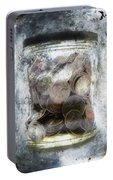 Money Frozen In A Jar Portable Battery Charger