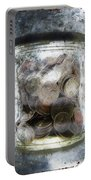 Money Frozen In A Jar Portable Battery Charger by Skip Nall