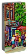 Monkland Tavern Corner Old Orchard Montreal Street Scene Painting Portable Battery Charger