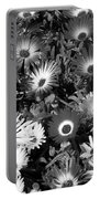 Monochrome Asters Portable Battery Charger