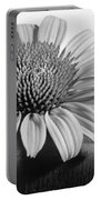 Monochrome Coneflower Portable Battery Charger