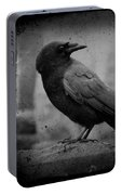 Monochrome Crow Portable Battery Charger