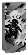 Monochrome Flowers 2 Portable Battery Charger