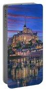 Mont Saint-michel Soir Portable Battery Charger by Richard Harpum