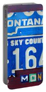 Montana License Plate Map Portable Battery Charger