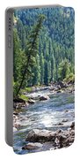 Montana River And Trees Portable Battery Charger