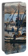 Monterey Fish Company Abstract Portable Battery Charger