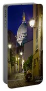 Montmartre Street And Sacre Coeur Portable Battery Charger