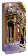 Montreal Memories Pretty Plateau Porches Lady Climbs Front Steps By Bricks Balconies Home Cspandau   Portable Battery Charger