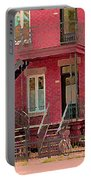 Montreal Memories The Old Neighborhood Timeless Triplex With Spiral Staircase City Scene C Spandau  Portable Battery Charger