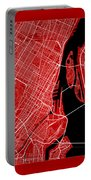 Montreal Street Map - Montreal Canada Road Map Art On Color Portable Battery Charger