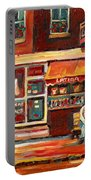 Montreal Street Scene Paintings Portable Battery Charger