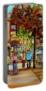 Montreal Streetscenes By Cityscene Artist Carole Spandau Over 500 Montreal Canvas Prints To Choose  Portable Battery Charger