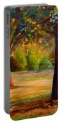 Montreal Westmount Park Urban Scene Portable Battery Charger