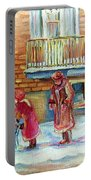 Montreal Winter Scenes Portable Battery Charger