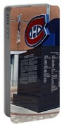 Monument For The Montreal Canadiens Portable Battery Charger