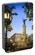 Monument To The Marquis Of Comillas Cadiz Spain Portable Battery Charger