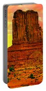 Monument Valley Right Mitten Sunrise Painting Portable Battery Charger
