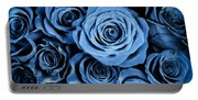 Moody Blue Rose Bouquet Portable Battery Charger