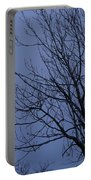 Moon And Bare Tree Portable Battery Charger