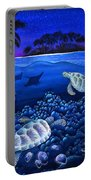 Moon Glow Portable Battery Charger by Carolyn Steele