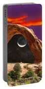 Moon In Corona Arch Portable Battery Charger