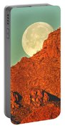 Moon Over Tucson Mountains Portable Battery Charger