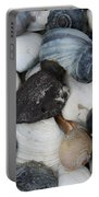 Moon Snails And Shells Still Life Portable Battery Charger